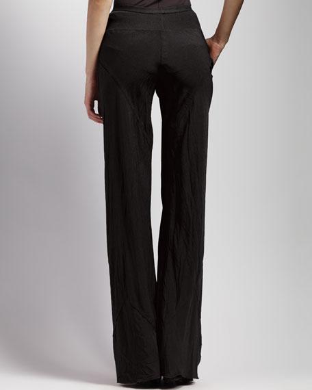 Bias-Cut Crepe Pants