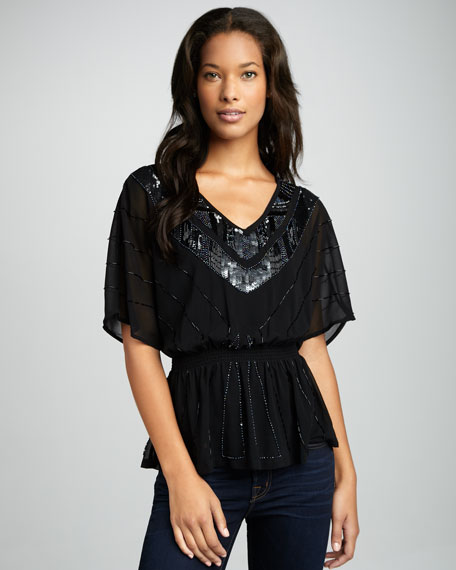 Marilyn Beaded Top