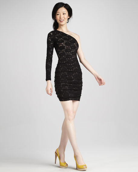 Steffe One-Sleeve Knit Dress