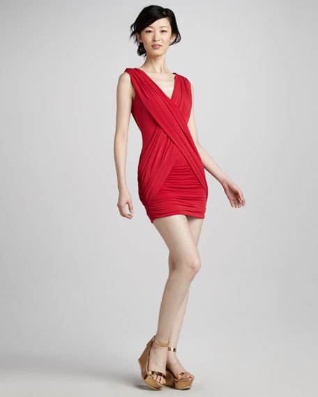 Alondra Sleeveless V-Neck Cocktail Dress