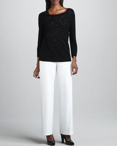 Beaded Wool Top, Women's