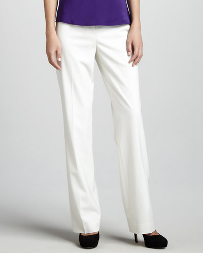 Lafayette 148 New York Menswear Pants, Winter White