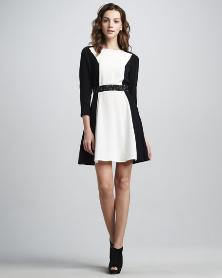 Avery Two-Tone Dress