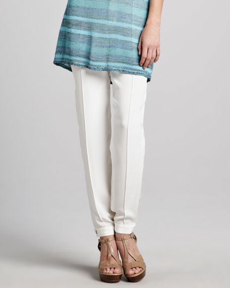 Skinny Silk Pants