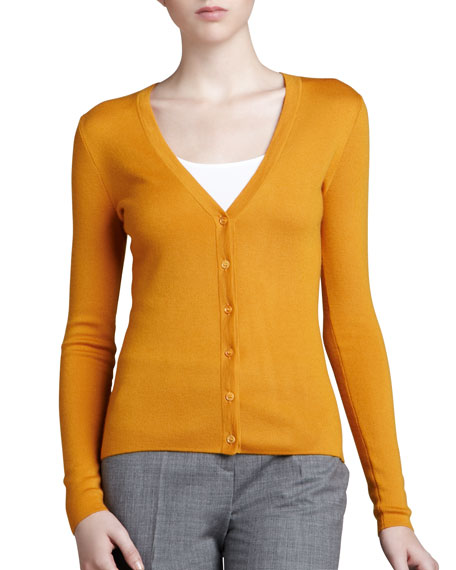 Cashmere Cardigan, Amber