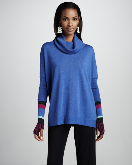Funnel-Neck Slouch Tunic, Petite