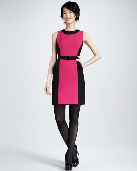 Olivia Belted Dress, Fuchsia