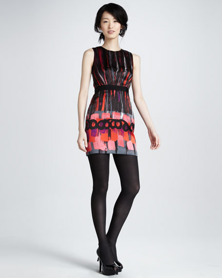 Colette Printed Silk Dress