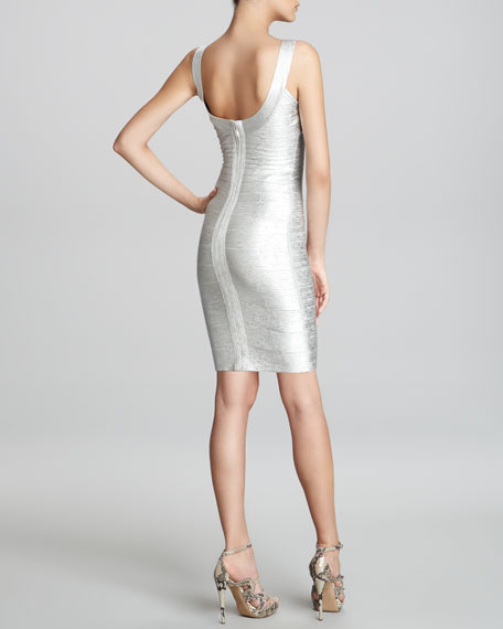 Basic Shimmery Bandage Dress