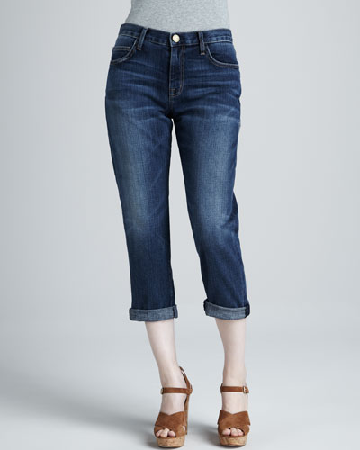 Current/Elliott The Boyfriend Cropped Jeans