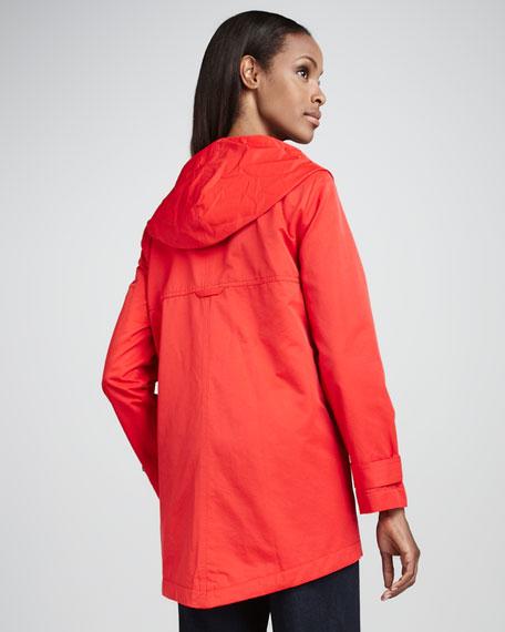 Nylon Hooded Jacket, Petite