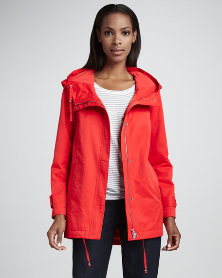 Nylon Hooded Jacket, Petite