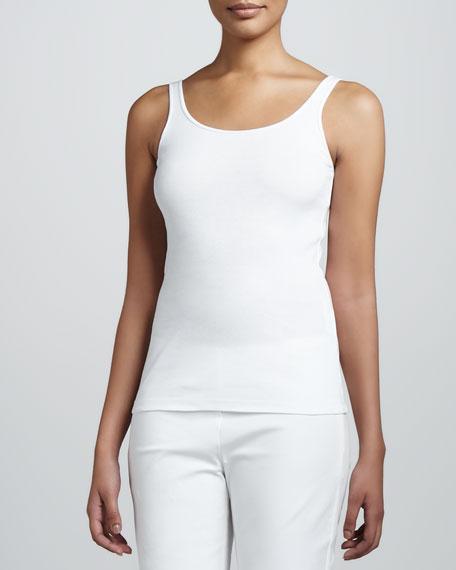 Organic Slim Tank, White