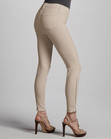 Washed Skinny Jeans, Pale Arctic White