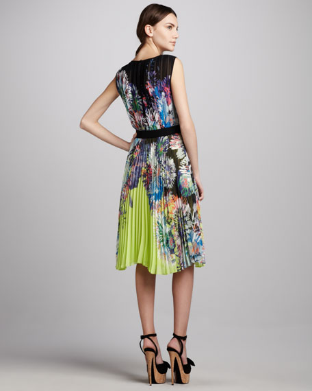 Sierra Printed Neon Dress