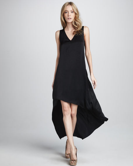 Avery V-Neck Asymmetric Dress