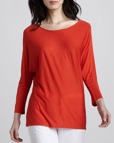 Boat-Neck Jersey Tee