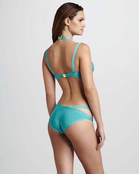 Cross-Strap Bikini, Blue Surf
