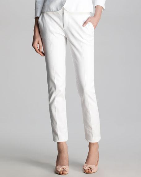 Stretch-Pique Slim Pants
