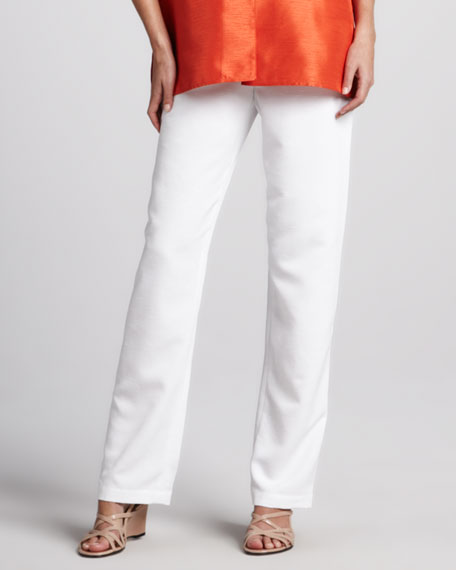 Shantung Pants, White