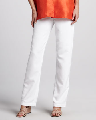 Shantung Pants, White