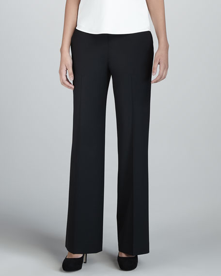 Waverly Wide-Leg Pants, Black