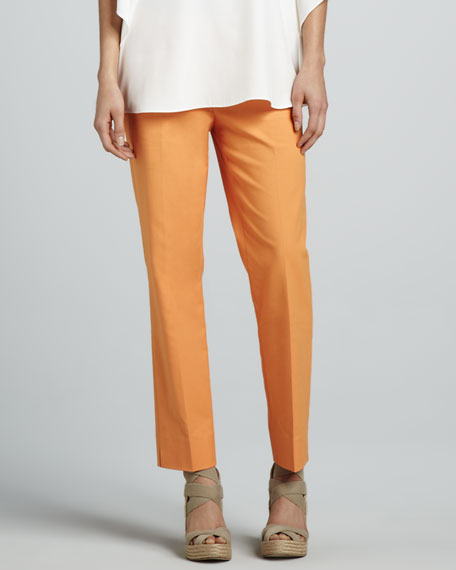 Cropped Bleecker Pants, Cantaloupe