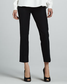 Lafayette 148 New York Jodhpur Cropped Pants, Black