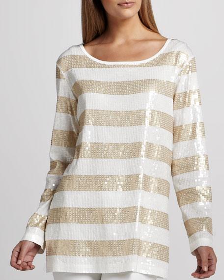 Sequin Striped Tunic