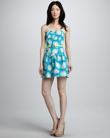 Claudia Printed Strapless Dress