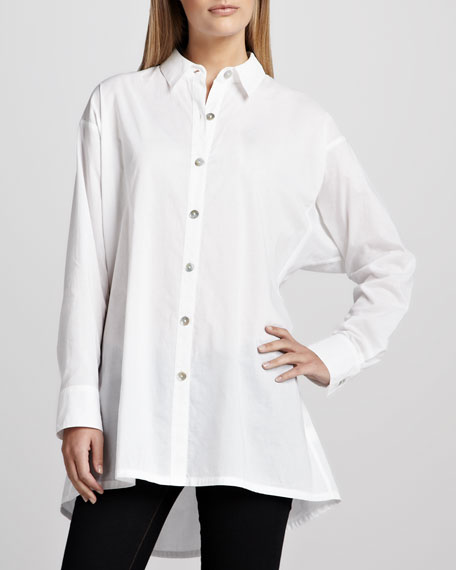 Solid Flared Big Shirt
