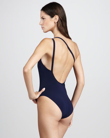 Medallion One-Shoulder One-Piece Swimsuit