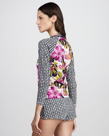 Catarina Mixed-Print Surf Shirt