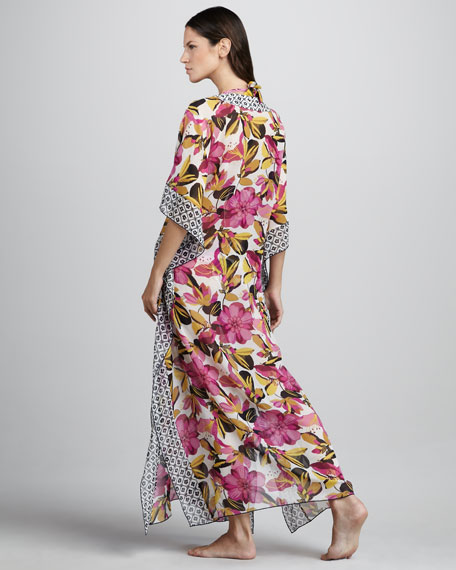 Catarina Floral-Print Caftan Cover-Up