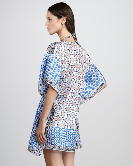 Eden Mixed-Print Coverup Tunic