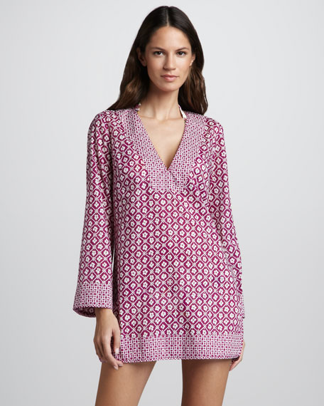 Biarritz Printed Tunic Coverup