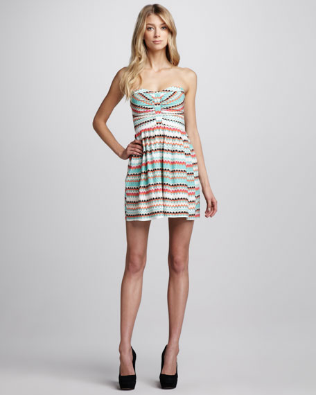 Tidal Wave Strapless Dress