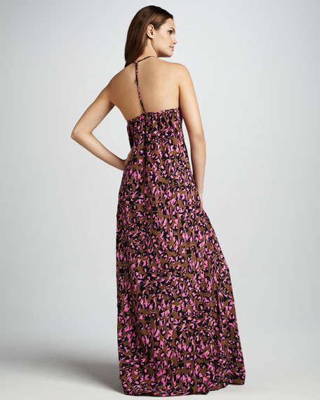 Pablo Animal-Print Cover-Up Maxi Dress