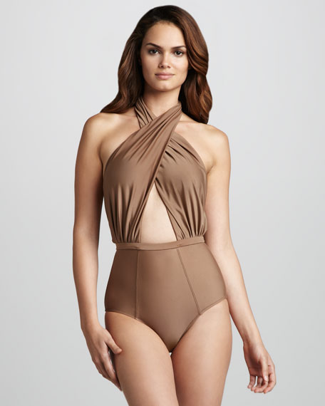 Cabana Twist-Halter One-Piece Swimsuit
