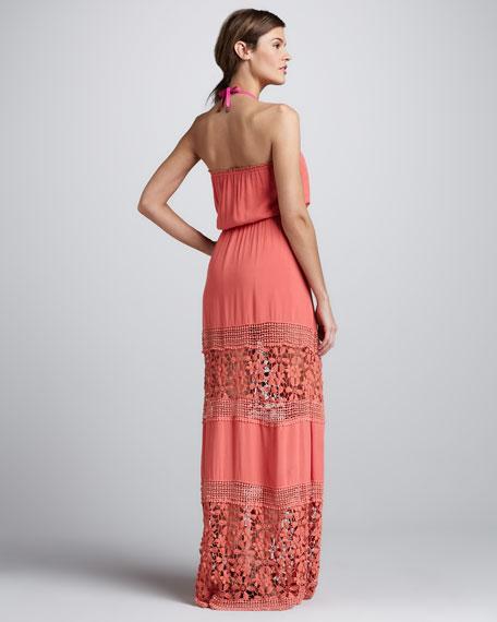 Charlotte Crochet-Panel Maxi Dress