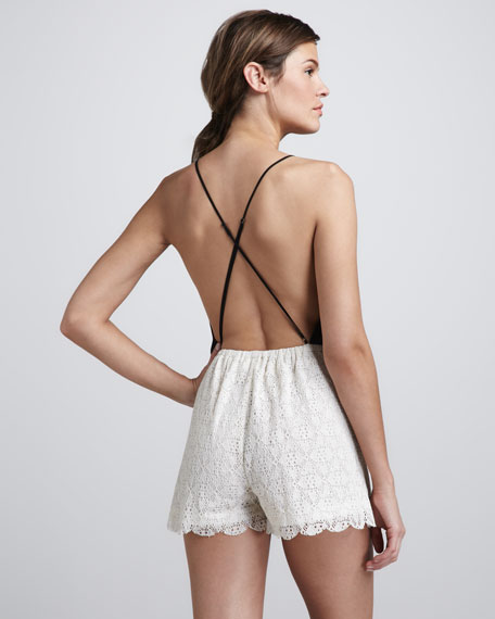 Malay Lace-Short Jumpsuit