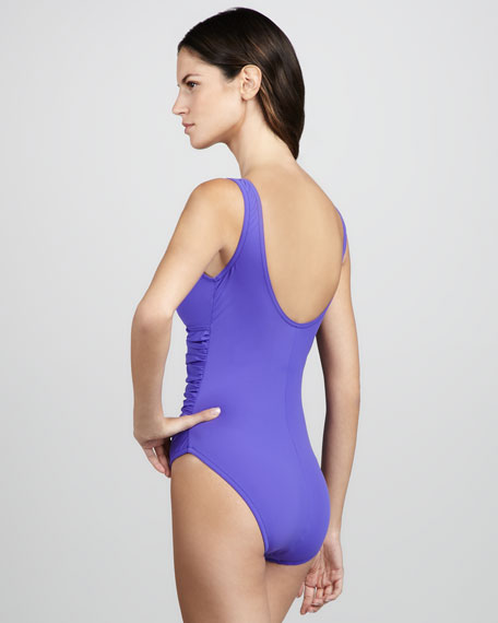 Basic Ruch-Front One-Piece Swimsuit