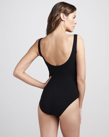 Ribbon-Front One-Piece Swimsuit