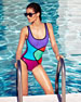 Abstract Colorblock One-Piece Swimsuit