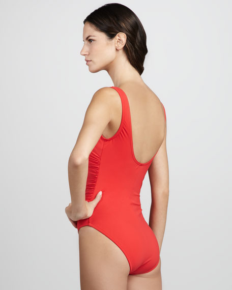 Ruched Ruffled One-Piece Swimsuit