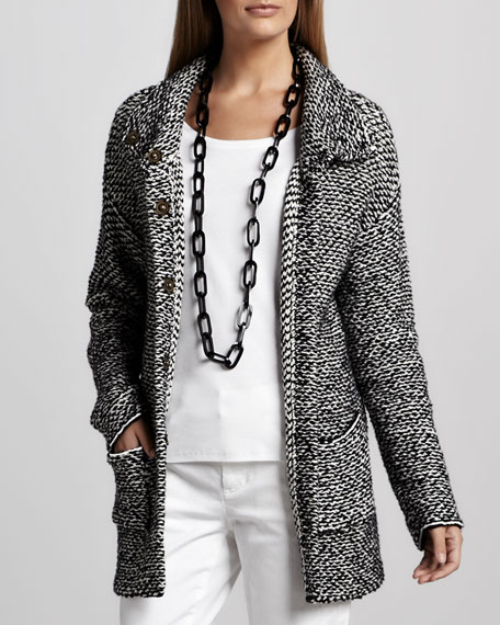 Organic Knit Long Jacket