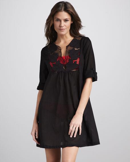 Avalon Applique-Top Coverup Dress