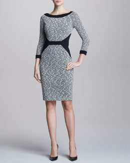 David Meister Tweed Contour Dress