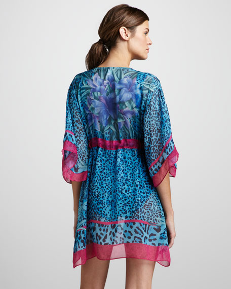 Tiger Lily Printed Coverup Beach Dress