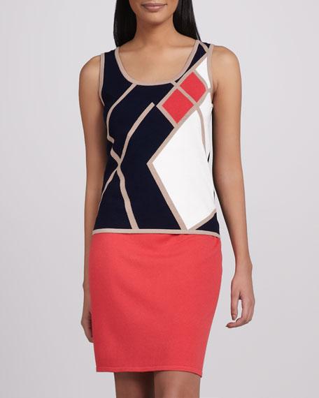 Slim Mini Skirt, Red
